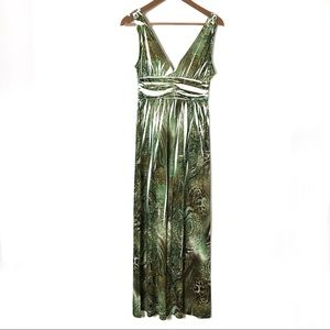 Wish Collection Maxi Dress Size Large Green USA